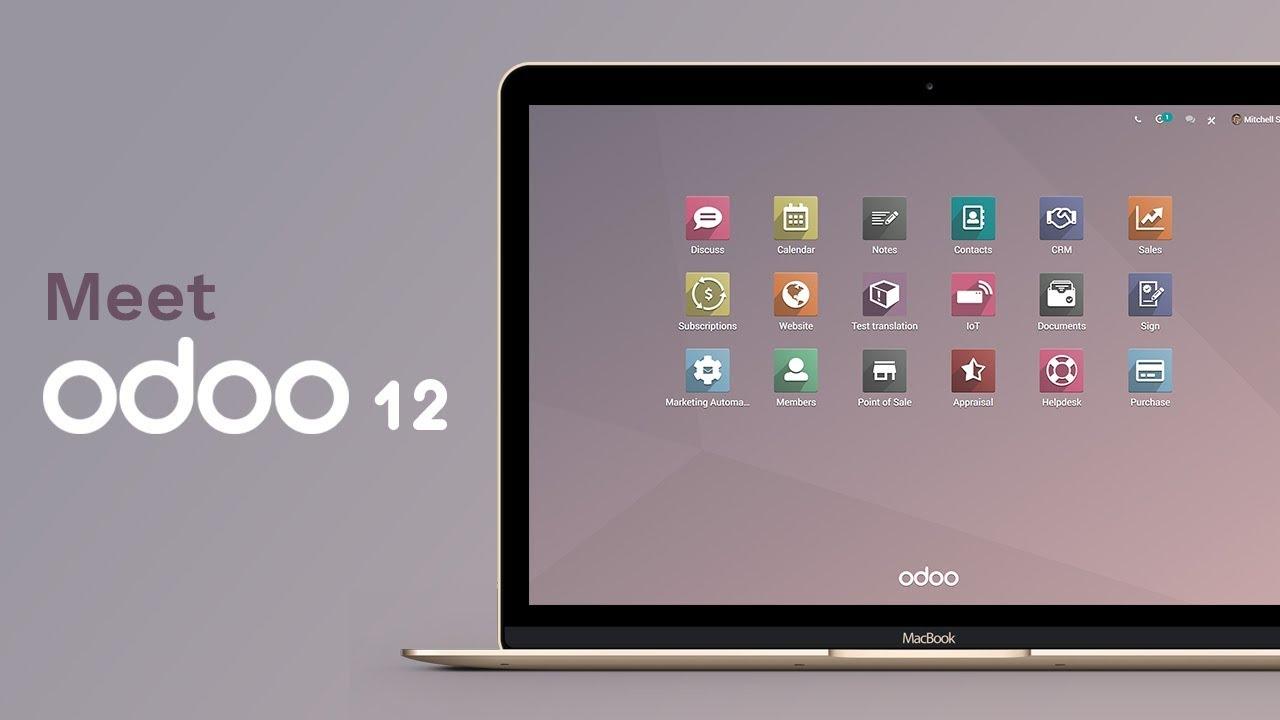 odoo 12 apps account contabilità magazzino produzione