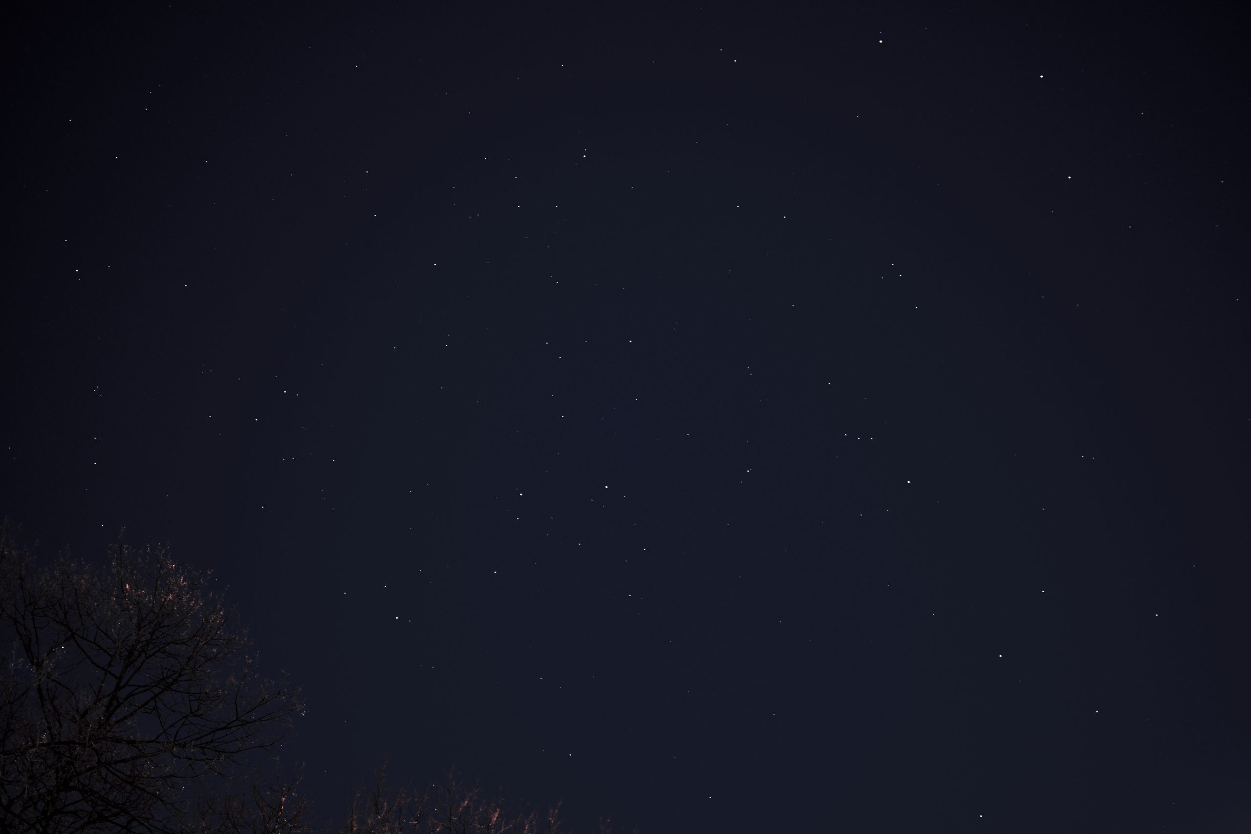 Stargazing in NYC, 8-hours worth of the night sky featuring the constellation Orion.