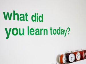 June 4 – What did you learn?