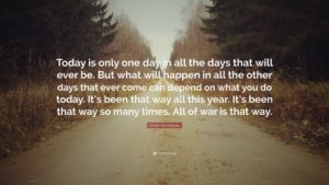 "September 21 – Make ""One Day"" Today"