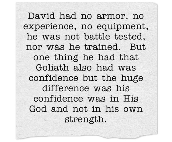 September 26 – Are You A David or Goliath