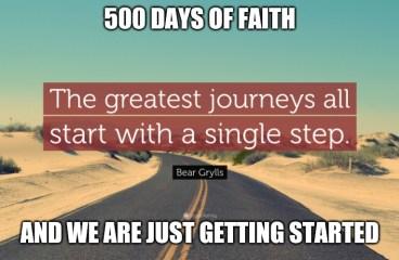 May 16 – 500 Days of Faith