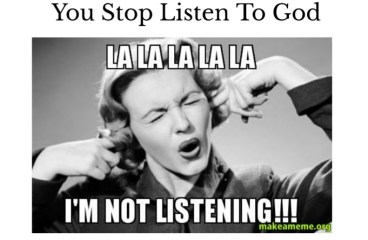 Mar 11 – I'm Not Going To Listen To You