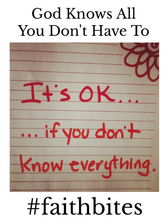 June 9 – It's Ok To Not Know