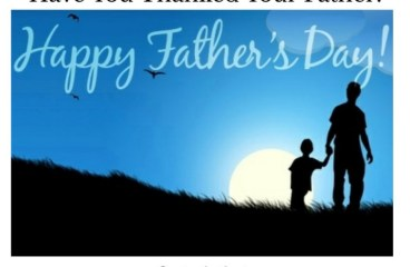 June 21 – Father's Day