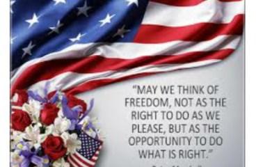 July 4 – Freedom Isn't Free