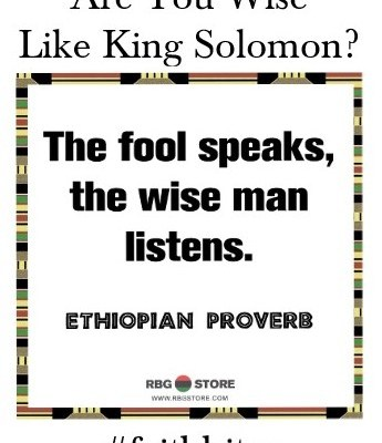 Are You Wise Like King Solomon