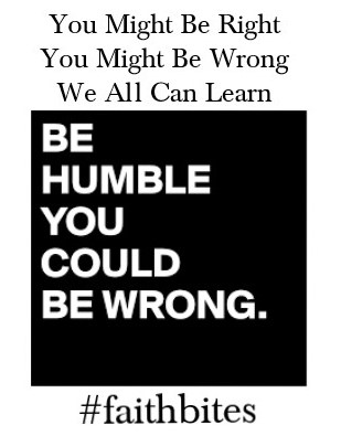 You might be wrong
