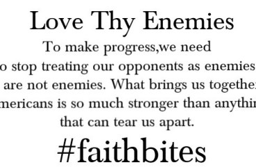 Feb 12 – Enemies or Opponents?