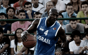 Basketball player Cory Carr in action for Israel
