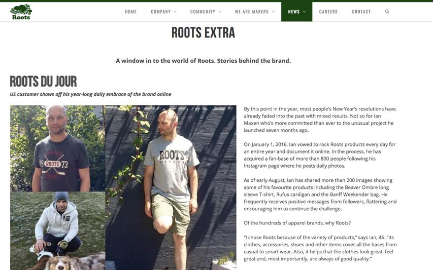Roots website article