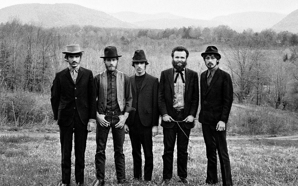 The Band, with Robbie Robertson at right. (Elliott Landy)