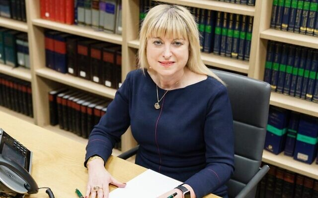 President of the Board of Deputies of British Jews Marie can der Zyl. (Courtesy)