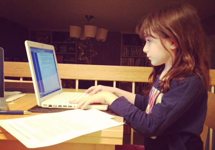 Hannah Alper, age 9 in 2012, blogs at home.
