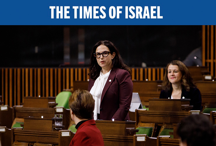MP Ya'ara Saks asks Canadian Prime Minister Justin Trudeau a question during Question Period in the House of Commons, in West Block of Parliament, in Ottawa, Canada, on November 25, 2020.