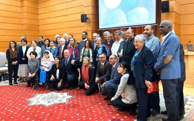 Vardit Ravitsky, bottom row center, with red scarf, in Casablanca, Morocco, for 2019's seventh international Bioethics Multiculturalism and Religion Workshop. (Courtesy)