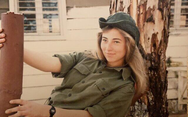 Vardit Ravitsky during her IDF service in 1985. (Courtesy)