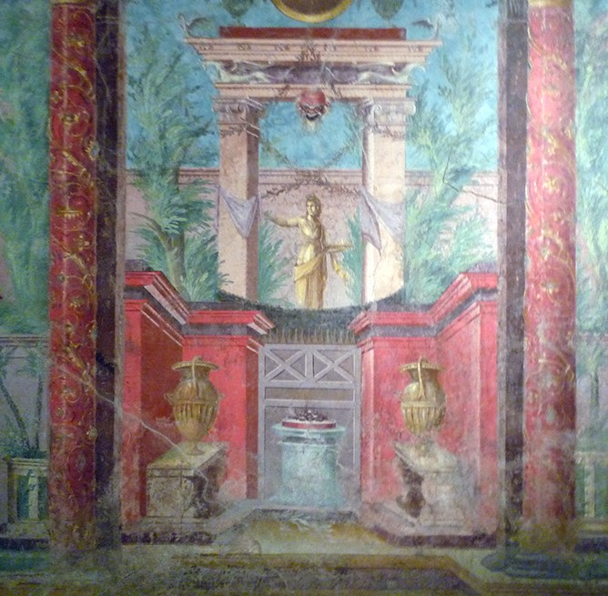 Roman fresco using perspective to depict depth.