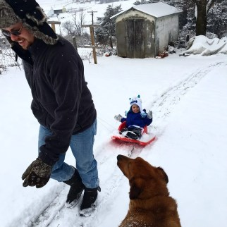 buddy sledding