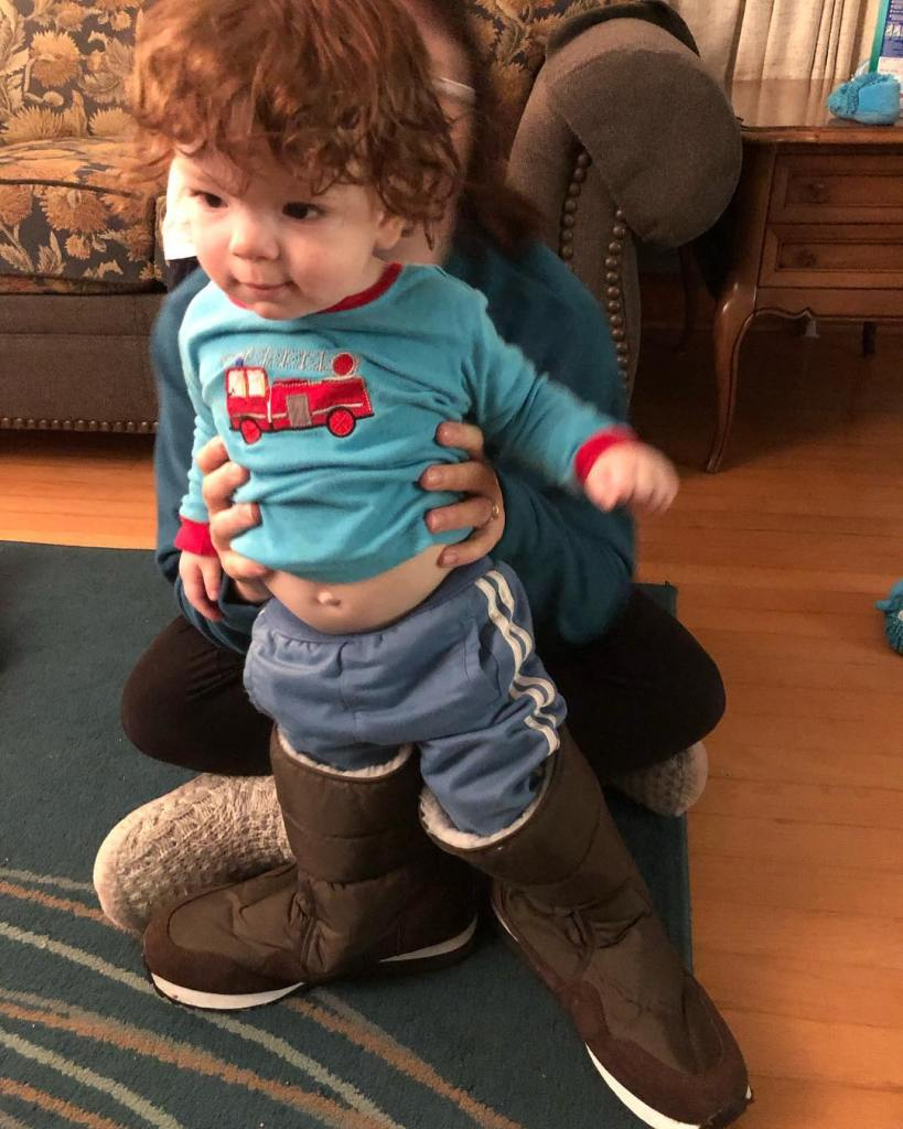In daddy's boots