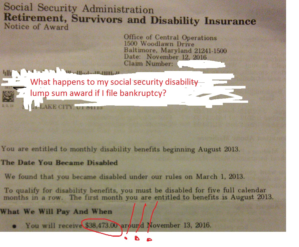 What Happens To My Social Security Disability Lump Sum