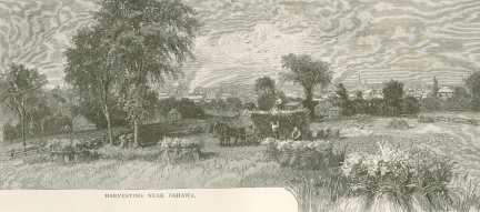 Sketch from the 1800\'s looking East from King & Burk area