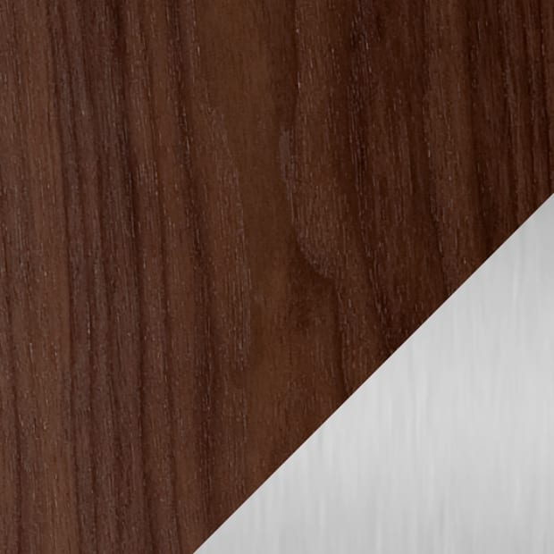 Chocolate Stained Walnut / Satin Nickel