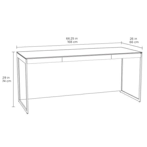 Centro Office Desk 6401 Satin White Spec
