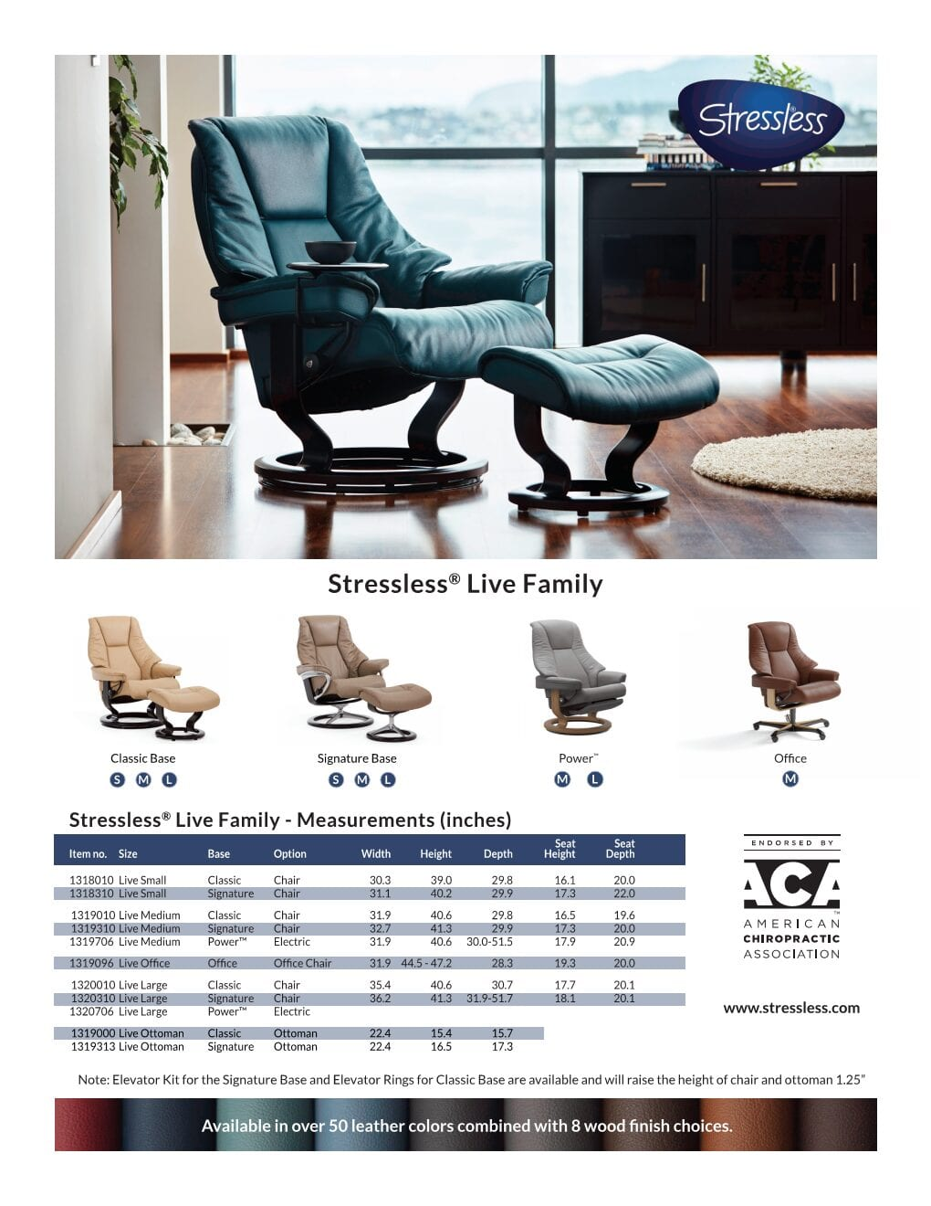 Live Product Sheet Stressless Recliner