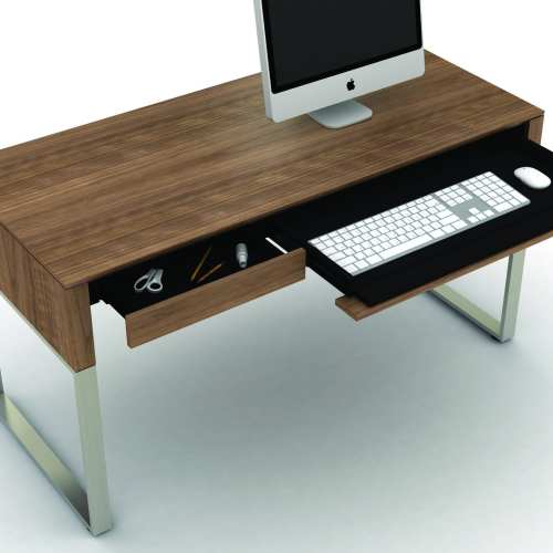 Cascadia 6201 Small Home Office Desk | BDI Furniture Walnut