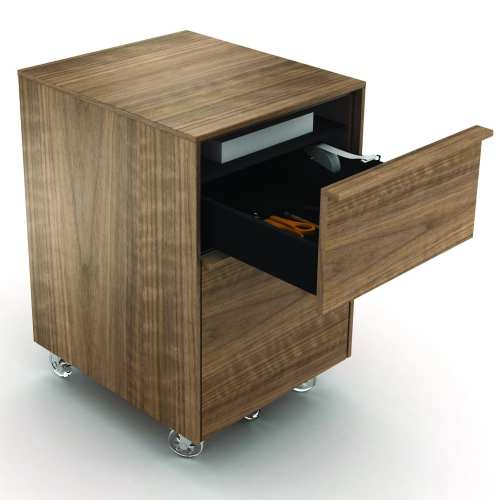 Cascadia 6207 Mobile Storage & File Pedestal | BDI Furniture Walnut
