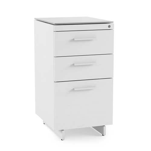 Centro 6414 Office 3 Drawer File Cabinet White