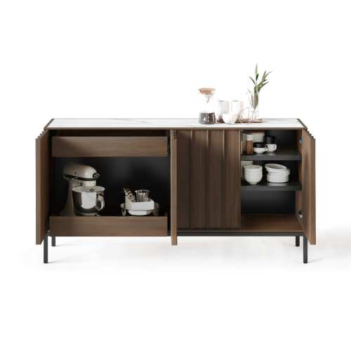 Cosmo 5729 Modern Console & Sideboard | BDI Furniture Toasted Walnut 1