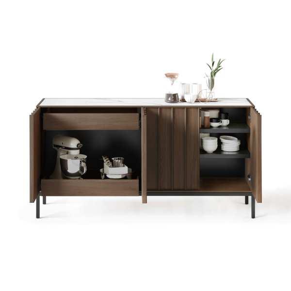 Cosmo 5729 Modern Console & Sideboard | BDI Furniture Toasted Walnut 1