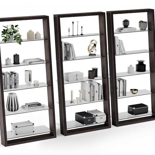Eileen 5156 Modern Leaning Glass Shelf | BDI Furniture Charcoal Ash 3