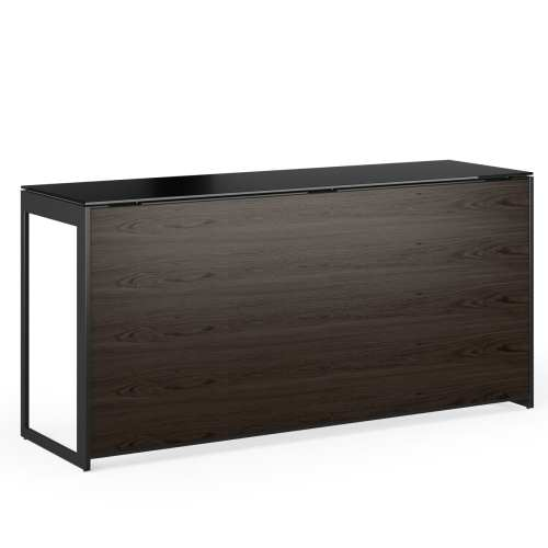 Sequel 6109 Compact Desk Magnetic Back Panel Charcoal Stained Ash Black