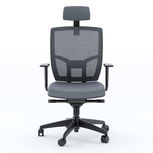 TC 223 DHF Fabric Chair Grey Front