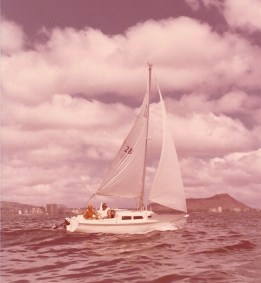 Sailing off Diamond Head