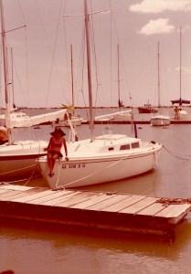 Saillboat at dock