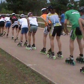 Andy Kostka in Paceline with World Class Skaters in Couderay, WI