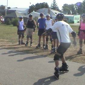 Backwards V start instruction by Master Skate Instructor
