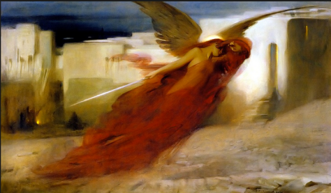"""And there was a Great Cry in Egypt"" by Arthur Hacker"