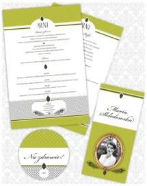Zestaw poligrafii ślubnej - stylistyka lat '20 - Robimy Śluby