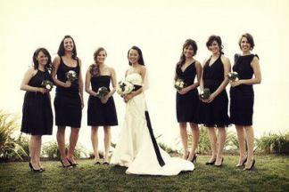 Druhny w czarnych sukienkach - Robimy Śluby