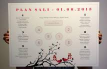 Poligrafia ślubna - plan sali weselnej - Robimy Śluby