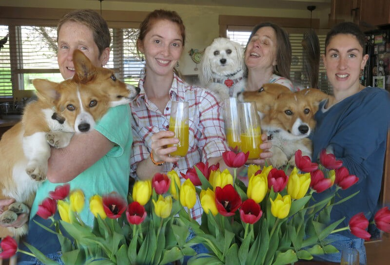 In Ithaca, New York, Robin Botie's friends get together for a Mothers' Day brunch.