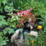 """""""I want to be tiny in my garden, sitting on the rocks,"""" Robin Botie's friend in Ithaca, New York had told her. So she photoshopped her tiny, in her garden."""