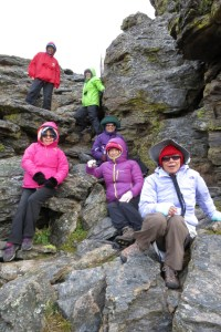 Kids Yellow for Courage - Robin Botie of Ithaca, New York, finds six women on the Tundra Communities Trail in the Rocky Mountains.