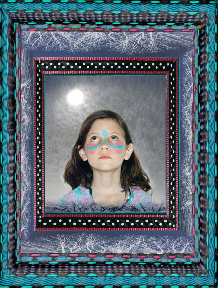Robin Botie of Ithaca, New York, Photoshops multiple frames around a portrait of her daughter Marika Warden who died.