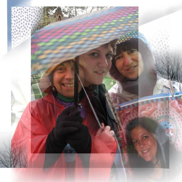 Robin Botie of Ithaca, New York, photoshops rainy day walkathon of the Cancer Resource Center of the Finger Lakes.
